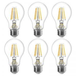 LE Lighting EVER Ampoule LED E27 4W (=40W Ampoule Incandescente), 400LM 2700K Lumière Blanche Chaude, Angle de Diffusion 300°, Ampoule Filament Non-Dimmable, Idéale pour Chambre, Salon, Salle à Manger de la marque Lighting EVER image 0 produit