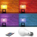 LE Lighting Ever Ampoule LED RGB+W Réglable E27 6W avec 16 couleurs changeables, Ampoule Multicolore, Contrôlée via Télécommande Incluse, pour Café, Restaurant, Etc. Lot de 2 de la marque Lighting EVER image 3 produit