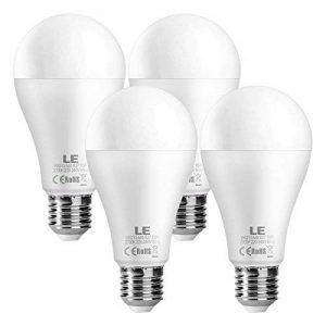 LE Lighting EVER Ampoules LED E27 15W, 1500 Lumens, 2700 Kelvins Blanc chaud, Angle de Diffusion 200°, Equivalent à Ampoule Incandescente de 100W, Non-Dimmable, Lot de 4 de la marque Lighting EVER image 0 produit