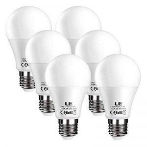 LE Lighting EVER Ampoules LED E27, 9W 800lm, Blanc Chaud 2700K, Equivaut à Ampoule Incandescente 60W, Non-Dimmable, Lot de 6 de la marque Lighting EVER image 0 produit
