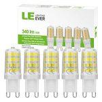 LE Lighting Ever Ampoules LED G9 5W, 340lm 2835 SMD, Blanc Lumière Du Jour 6000K, Ampoule Maïs Non-Dimmable, Equivalentes Ampoules Halogènes 50W, Lot de 5 de la marque Lighting EVER image 1 produit