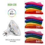 LE Lighting EVER GU5.3 Ampoules LED 3.5W 280lm, MR16, 2700K Blanc Chaud, 12V DC/AC, Non-Dimmable, Equivaut à l'ampoule halogène de 35W, Lot de 10 de la marque Lighting EVER image 3 produit