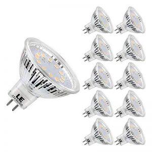 LE Lighting EVER GU5.3 Ampoules LED 3.5W 280lm, MR16, 2700K Blanc Chaud, 12V DC/AC, Non-Dimmable, Equivaut à l'ampoule halogène de 35W, Lot de 10 de la marque Lighting EVER image 0 produit