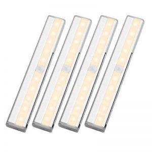 LE Lighting EVER Lampe de Placard, avec Détecteur de Mouvement, Lumière Blanc Chaud, Lot de 4 de la marque Lighting EVER image 0 produit
