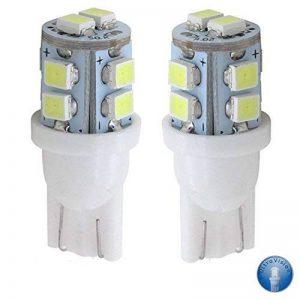 LED 501 Ampoules à Feux Latéraux Ultra Vision, 12V, 5W, Pack de 2 – Pure Lumière Blanche 6000k de la marque ARH Auto Accessories image 0 produit