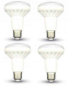 Led ampoules à réflecteur R80–Lot de 4–E27/Edison à vis–10W–blanc chaud 3000K 800lm Non Dimmable/20000heures Vie/220–240V/120° Angle de faisceau/SKU: 4339X 4 de la marque V-TAC image 0 produit