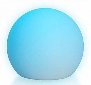 LED Boule Sphère lumineuse Ø 15 cm multicolore RGB 16 couleurs sans câble avec accumulateur et télécommande Etanche et flottant IP65 Extérieur Guirlande lumineuse lampe mood ball de la marque LED-Highlights image 0 produit