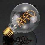 LED Edison Ampoule, Elfeland 3x E27 3W Ampoule Vintage 3W Remplace Ampoule Incandescence de 25W Filament en Spirale LED Style Rétro Antique Dimmable 2200K 180LM Lumière Blanc Chaud Globe Modèle G80 de la marque Elfeland image 3 produit