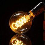 LED Edison Ampoule, Elfeland 3x E27 3W Ampoule Vintage 3W Remplace Ampoule Incandescence de 25W Filament en Spirale LED Style Rétro Antique Dimmable 2200K 180LM Lumière Blanc Chaud Globe Modèle G80 de la marque Elfeland image 2 produit