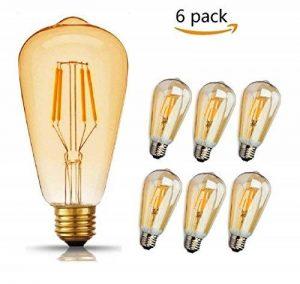 LED Edison Ampoule, GogoTool 4W 400LM 2600-2700K Angle de faisceau à 360° E27 ST64 LED Edison Lampe Vintage Ampoule Décorative Antique Rétro - 6 Pack de la marque GogoTool image 0 produit