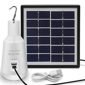 LED à Energie Solaire, Jirvyuk Lampe LED Solaire Portable. Ampoule Solaire 560LM, Lampe Solaire avec Panneau Solaire pour Eclairage, Extérieur, Randonnée,Camping, Pêche, de la marque Jirvyuk image 0 produit