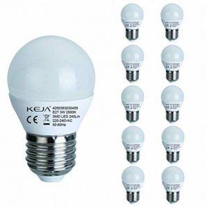 LED FACTORY 3W E27 LED, 30W Ampoule Halogène Équivalent, 240lm, Blanc Chaud, 2800K, 270° Larges Faisceaux, Pack de 10 Unités Ampoules de la marque LED FACTORY image 0 produit