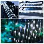 LED Guirlande lumineuse,KINGCOO Etanche 39ft 12M 100 LED conduit à énergie solaire tuyau souple Tube Rope Fil de cuivre de Noël étoilées de lumières pour le mariage Outdoor Garden Party (Blanc) de la marque KINGCOO image 4 produit