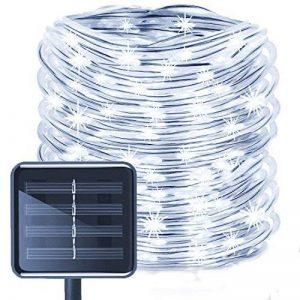 LED Guirlande lumineuse,KINGCOO Etanche 39ft 12M 100 LED conduit à énergie solaire tuyau souple Tube Rope Fil de cuivre de Noël étoilées de lumières pour le mariage Outdoor Garden Party (Blanc) de la marque KINGCOO image 0 produit