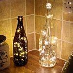 Led guirlandes de lumières 100 leds fées décoratives à piles, lumière de fil de cuivre pour chambre à coucher, mariage (33ft / 10m blanc chaud) de la marque Makion image 1 produit