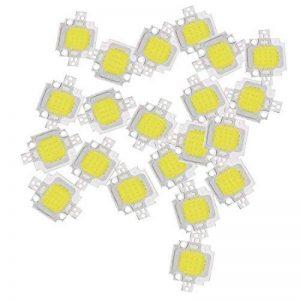 LED lampe - TOOGOO(R) 20 pcs 10W LED blanc pur Haute puissance 1100LM LED lampe SMD puce ampoule ampoule DC 9-12V de la marque TOOGOO image 0 produit