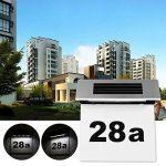 LED Numéro de maison Énergie Solaire ABEDOE Applique Lampe solaire numéro de maison lumineux LED en acier inoxydable - Transparent de la marque ABEDOE image 1 produit