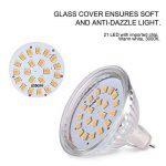 LEDGLE Lot de 6 3.8W 21 LED Ampoules MR16 GU5.3 300 Lumens Equivalent à Ampoule Halogène de 50W 3000K-Blanc Chaud[Classe énergétique A+] de la marque Ledgle image 3 produit