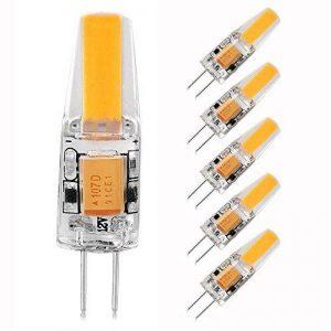 LEDGLE [Lot de 6] 3W Ampoules G4 20-LED SMD2835 300 Lumens Équivalente à une Ampoule Incandescente 35W Angle du faisceau 360° 2800K -Blanc Chaud de la marque Ledgle image 0 produit