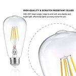 LEDGLE Lot de 6 Ampoule LED à Filament Dimmable E27 ST64 Retro Edison Vintage 400 Lumens 4W Equivalent à Ampoule Halogène de 40W Angle de Faisceau 360 ° pour la Décoration 2700K-Blanc Chaud de la marque Ledgle image 4 produit