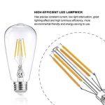 LEDGLE Lot de 6 Ampoule LED à Filament Dimmable E27 ST64 Retro Edison Vintage 400 Lumens 4W Equivalent à Ampoule Halogène de 40W Angle de Faisceau 360 ° pour la Décoration 2700K-Blanc Chaud de la marque Ledgle image 3 produit