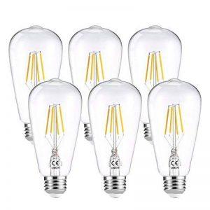 LEDGLE Lot de 6 Ampoule LED à Filament Dimmable E27 ST64 Retro Edison Vintage 400 Lumens 4W Equivalent à Ampoule Halogène de 40W Angle de Faisceau 360 ° pour la Décoration 2700K-Blanc Chaud de la marque Ledgle image 0 produit