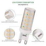 LEDGLE [Version améliorée ] Lot de 5 Ampoules LED G9 6W Sans Scintillement 54-LED SMD4014 420lm non-dimmable Equivalent à Ampoule Halogène de 60W avec Large Angle de Faisceau 2800K-Blanc Chaud de la marque Ledgle image 1 produit