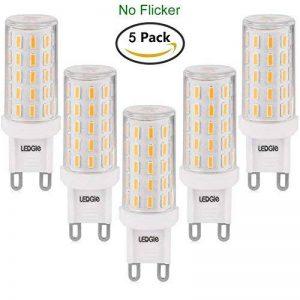LEDGLE [Version améliorée ] Lot de 5 Ampoules LED G9 6W Sans Scintillement 54-LED SMD4014 420lm non-dimmable Equivalent à Ampoule Halogène de 60W avec Large Angle de Faisceau 2800K-Blanc Chaud de la marque Ledgle image 0 produit