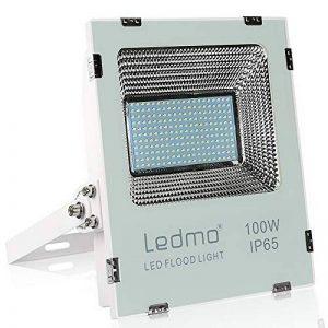 LEDMO 100W projecteur extérieur led, Blanc chaud 2700K, IP65 imperméable projecteur led, 10000 lumen led projecteur Lumière ,pour jardin, cour, couloir, eclairage de sécurité de la marque LEDMO image 0 produit