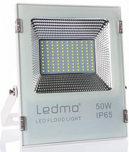 LEDMO 50W Projecteur led exterieur,étanche IP65 pour extérieur Projecteur LED, lumière du jour blanc, 6000K, 5000lm, 250W Equivalent halogène,Lumières de sécurité,Lumière d'inondation de la marque LEDMO image 0 produit
