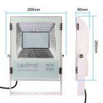 LEDMO 50W Projecteur led exterieur,étanche IP65 pour extérieur Projecteur LED, lumière du jour blanc, 6000K, 5000lm, 250W Equivalent halogène,Lumières de sécurité,Lumière d'inondation de la marque LEDMO image 3 produit