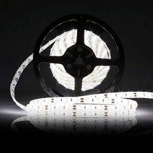 LEDMO Ruban LED Blanc 6000K DC12V SMD5630-300leds 5M lumière du jour 25lm/LED,IP65 étanche Pack avec Bande LED 5M(Pas d'alimentation 12V 5A) de la marque LEDMO image 0 produit