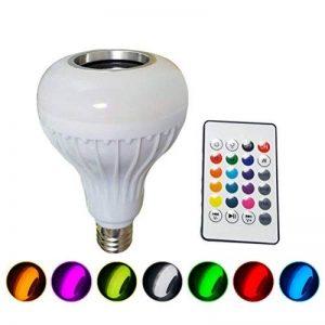 LEDMOMO Ampoule LED avec haut-parleur Bluetooth intégré, RGB lampe de changement audio stéréo sans fil avec télécommande de la marque LEDMOMO image 0 produit