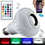 LEDMOMO Ampoule LED avec haut-parleur Bluetooth intégré, RGB lampe de changement audio stéréo sans fil avec télécommande de la marque LEDMOMO image 1 produit