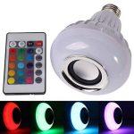 LEDMOMO Ampoule LED avec haut-parleur Bluetooth intégré, RGB lampe de changement audio stéréo sans fil avec télécommande de la marque LEDMOMO image 3 produit
