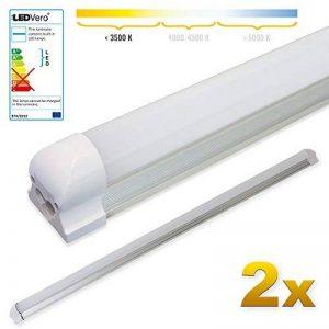 LEDVero 2x SMD réglettes lumineuses LED en blanc chaud T8 G13 tube couvercle laiteux - 120 cm, 18 W, 1800lumen- prêt pour l'installation de la marque LEDVero image 0 produit