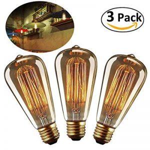 LEORX Edison Lampe ST64 220-240V 40W 140lm E27 Edison Ampoule Antique Lampe Blanc chaud- 3 Pack de la marque LEORX image 0 produit