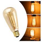 LEORX Edison Lampe ST64 220-240V 40W 140lm E27 Edison Ampoule Antique Lampe Blanc chaud- 3 Pack de la marque LEORX image 3 produit