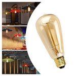 LEORX Edison Lampe ST64 220-240V 40W 140lm E27 Edison Ampoule Antique Lampe Blanc chaud- 3 Pack de la marque LEORX image 4 produit
