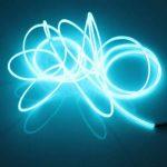 Lerway 5M EL Wire Fil Neon Flexible Lumiere, LED Cable Guirlande Lumineuses Electroluminescent Tube Lumineux,Parti de Noel, Fete, Decoration Voiture, Cuisine Exterieure,Boites de Nuit, Velo/Coche/Deco,Baton Lumineux- Bleu Clair de la marque Lerway image 2 produit