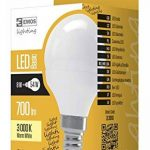 Les emos zl3910Ampoule LED a +, mini globe, Blanc Chaud, verre, 8W, E14, transparent, 4,7x 9cm de la marque Emos image 1 produit