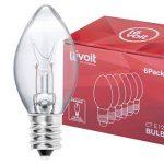 Levoit Ampoules de la Lampe de Sel de l'Himalaya, E12, 15Watt, Lot de 6 Ampoules à Incandescence, Compatible avec Toutes les Lampes de Sel de Levoit de la marque Levoit image 1 produit