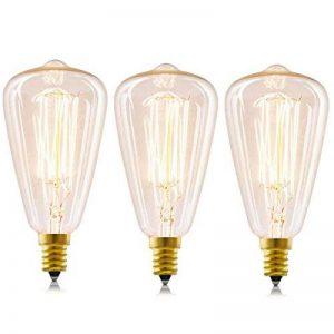 Licperron Edison Ampoules E14 à vis St48 40 W 220 V Filament antique verre ampoule vintage, à intensité variable, Lot de 3 de la marque Licperron image 0 produit