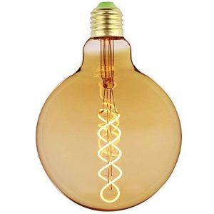 LighitngDesigner Edison Classique LED Ampoule G125 4W Dimmable Style Vintage 220 / 240V E27 (Ambre) de la marque LightingDesigner image 0 produit
