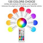 LightAurora 10W E27 Ampoule LED couleur avec télécommande, 120 choix de couleurs Ampoule à vis Multicolore, double mémoire et commande de commutateur mural, RGB + Blanc --- 4ème génération(Lot de 1) de la marque LightAurora image 2 produit