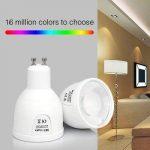 Lighteu, 1 x Ampoule LED colorée RGBW Milight original®, WiFi, 4W, GU10, blanc chaud à intensité variable, possible de contrôler par Télécommande sans fil 2.4GHz RF, Android ou iPhone (4W-GU10) [Classe énergétique A] de la marque LIGHTEU image 1 produit