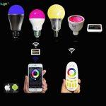 Lighteu, 1 x Ampoule LED colorée RGBW Milight original®, WiFi, 4W, GU10, blanc chaud à intensité variable, possible de contrôler par Télécommande sans fil 2.4GHz RF, Android ou iPhone (4W-GU10) [Classe énergétique A] de la marque LIGHTEU image 4 produit