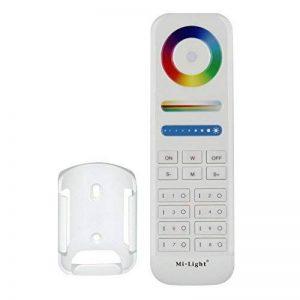 LIGHTEU, 1 x Télécommande RVB + CCT (RVBWW: RVB + Blanc chaud Blanc Froid) sans fil, 8 zones, Milight Original ®, 2.4GHz, 8 Zones de Travail Chaque Contrôleur, avec Intensité Variable, contrôleurs 5 en 1, fut089 (Télécommande RVBWW) [Classe énergétique A+ image 0 produit