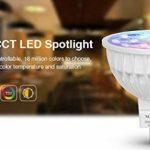 Lighteu, 4 x Ampoule LED Multicolore RVB/RGB plus blanc chaud, WiFi, 4W/GU5.3, Milight original®, intensité variable, possible de contrôler par Télécommande sans fil 2.4GHz RF, Android ou iPhone (4 x 4W/GU5.3 + Télécommande) [Classe énergétique A+] de la image 2 produit