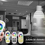 Lighteu, 4 x Ampoule LED Multicolore RVB/RGB plus blanc chaud, WiFi, 4W/GU5.3, Milight original®, intensité variable, possible de contrôler par Télécommande sans fil 2.4GHz RF, Android ou iPhone (4 x 4W/GU5.3 + Télécommande) [Classe énergétique A+] de la image 1 produit